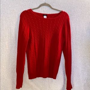 J.Crew Red Cashmere/Wool Sweater